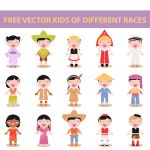 free vector kids of different races by harridan