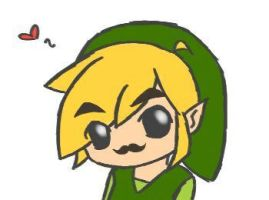 Chibi Toon Link w/ Moustache by VioletEmerald87