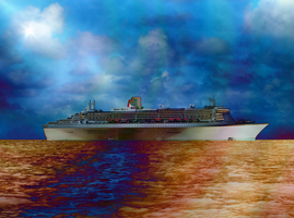 The Queen Mary 2 by PomPrint