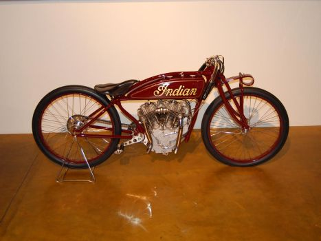 antique Indian motorcycle by Partywave
