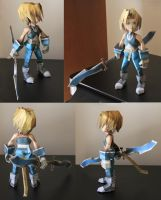 Final Fantasy IX - Zidane papercraft turn around by Mee-Lin
