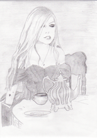 draw+avril lavigne by vampireglam