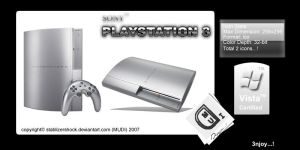 Sony Playstation 3 Icons by stablizershock