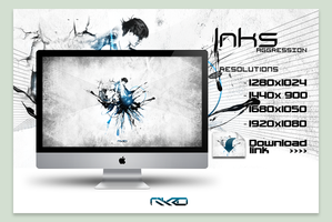 Inks Agression Wallpaper by Mykro-media
