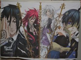 Black Butler Wallscroll  -Signed- by kikyo4ever