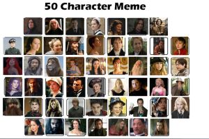 50 Favorite Characters by KatePendragon