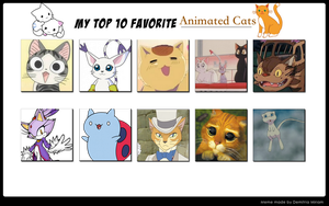 My Top 10 Favorite Cats by Soraply11