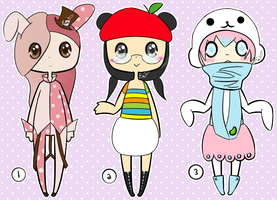 Adoptables 10: San-X and Sanrio Edition [CLOSED] by RideAlongWithMe