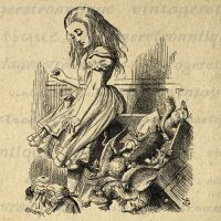 Alice Upsets the Jury Alice in Wonderland No.049 by VintageRetroAntique
