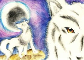 White Wolf :for RikuX: by flickersowner