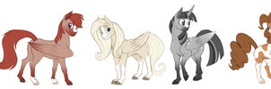 Realistically Colored Mane Six by 9CentsChange