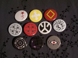 Buttons: D.Gray-man set by Quatrina