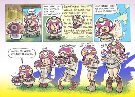 Cadet Toadette: Fungus Finder by Mr-DNA