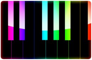 Colorful Piano Keyboard by wishmonster247