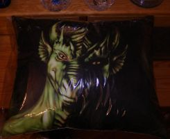 Green dragon pillow 1 by Eva-the-DragonLady