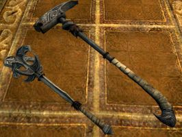 Nordic mace and hammer (other angle) by isaac77598