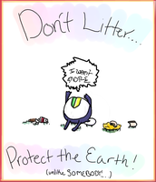 Tamama: Litter On Earth day.. by Squidey