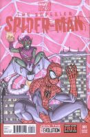 Superior Spider-Man and Green Goblin by shinlyle