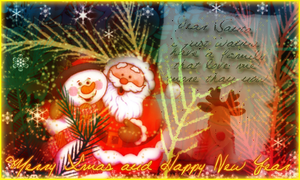 a santa's letter by vams