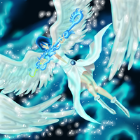 Aqua Snow Angel by QUINCY-OF-THE-MIST