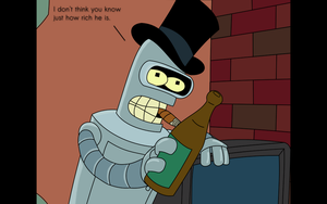 Bender is livin' large with frys money by Sgtconker1r