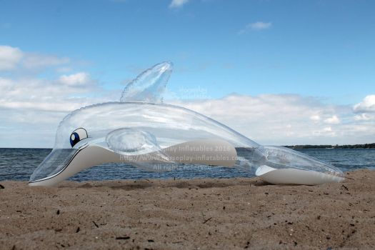 Inflatable Clear Barados Dolphin prototype by HorseplayInflatables