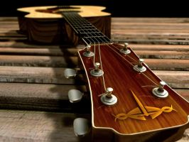 Acoustic Guitar 3D model by GavinUnit