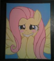 Fluttershy paint by Janji009