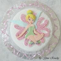 Tinkerbell Cake by ginas-cakes