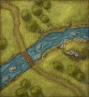 River Crossing Battlemap by eViLe-eAgLe