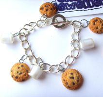 Milk n Cookies Charm Bracelet by tyney123