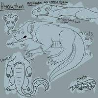 Hyenathon Species Guide. by Jolts-of-Blue