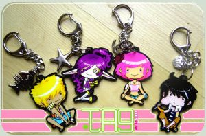 TAG Keychains by hostage-fiver
