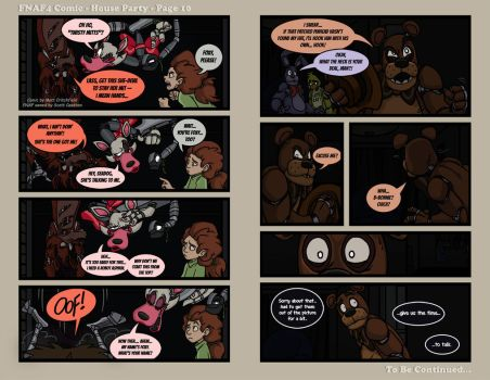 FNAF4 Comic - House Party - Page 10 - 6-3-16 by Mattartist25