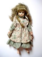 old porcelain doll by Mortifiera