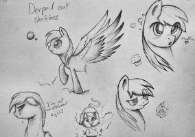 Derped out sketches by Rain-Gear