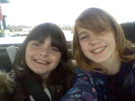 Me and my cousin by WolfandHorses4ever