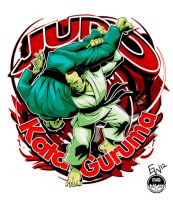 Judo Tshirt - Kata Guruma Finished Design by EryckWebbGraphics