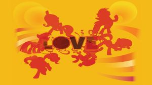 Beatles 'Love' Ponies Wallpaper by EvilDocterMcBob