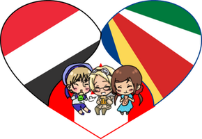 Invisible Trio Shimeji Heart by LadyAxis