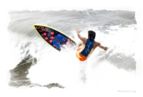 Day Glow Surfer by DavidMCoyle