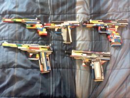 5 lego pistols by ace00004