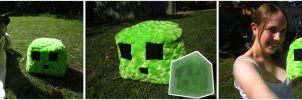 Minecraft Slime by Phantom-Wolf42