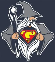 Superman Gandalf by Ninjademongirl