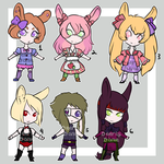 Chibi Bunny Adopts [OPEN] by DeerlyDame