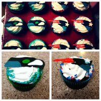 Super Bowl 2015 Cupcakes by scoobyqueen12