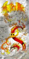 dragon and phoenix_by_yuumei by agefox