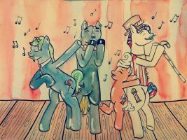 The Barbershop Quartet by JDAGonzalez
