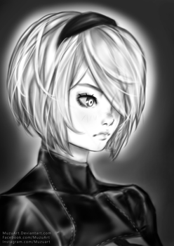 2B Fan Art by MuzuArt