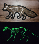 X-ray GLOW Fox embroidered patch by goiku